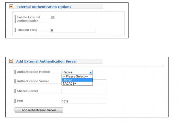 External Authentication Options