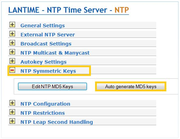 NTP-Symmetric Keys