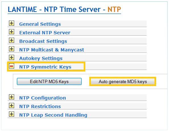 NTP-Symmetric Keys